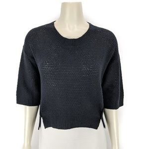 Rebecca Taylor Black Pullover Sweater Top Large